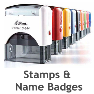 Stamps & Name Badges